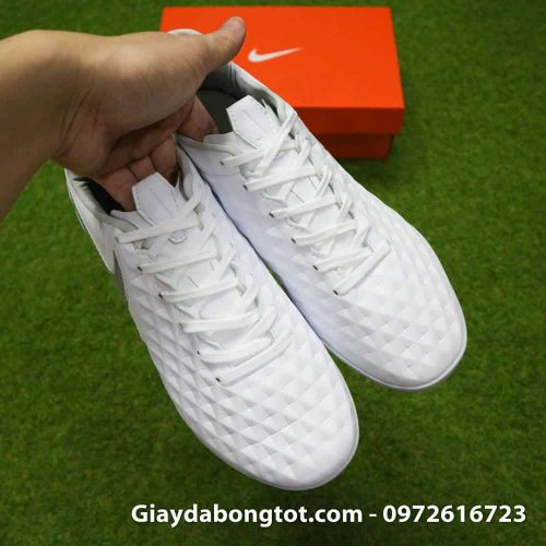 Giay da bong Nike Tiempo X 8 Pro TF trang white out da mem sieu nhe (7)