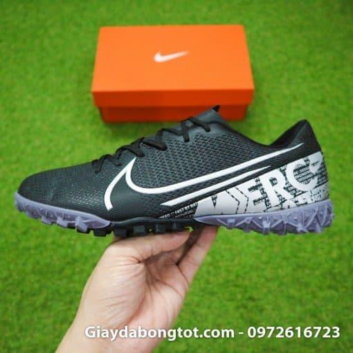Giay san co nhan tao Nike Mercurial Vapor 13 TF full den black out 2019 (11)