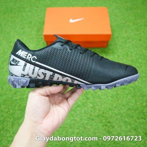 Giay san co nhan tao Nike Mercurial Vapor 13 TF full den black out 2019 (12)