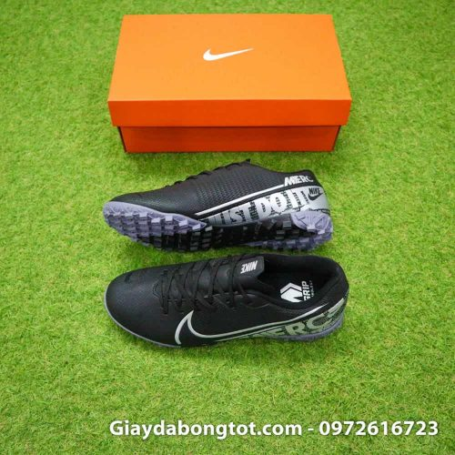 Giay san co nhan tao Nike Mercurial Vapor 13 TF full den black out 2019 (2)