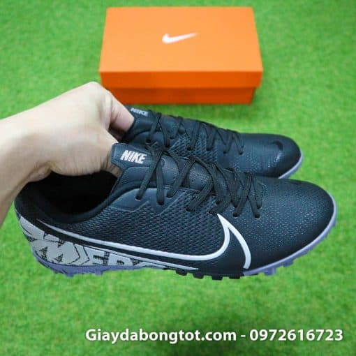 Giay san co nhan tao Nike Mercurial Vapor 13 TF full den black out 2019 (8)