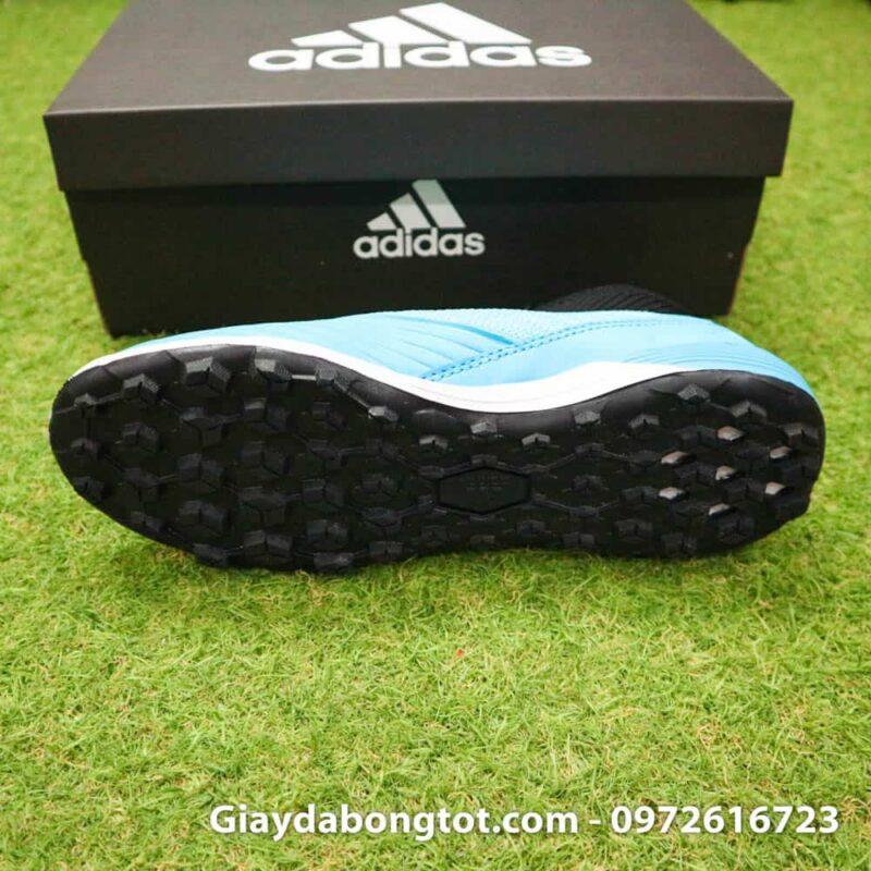 Giay bong da Adidas Predator 19.3 TF cao co xanh da troi den (4)