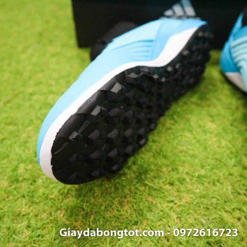 Giay bong da Adidas Predator 19.3 TF cao co xanh da troi den (7)