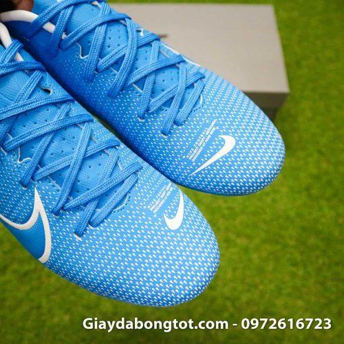 Giay bong da Nike Mercurial Vapor 13 AG xanh duong vach trang 2019 (15)