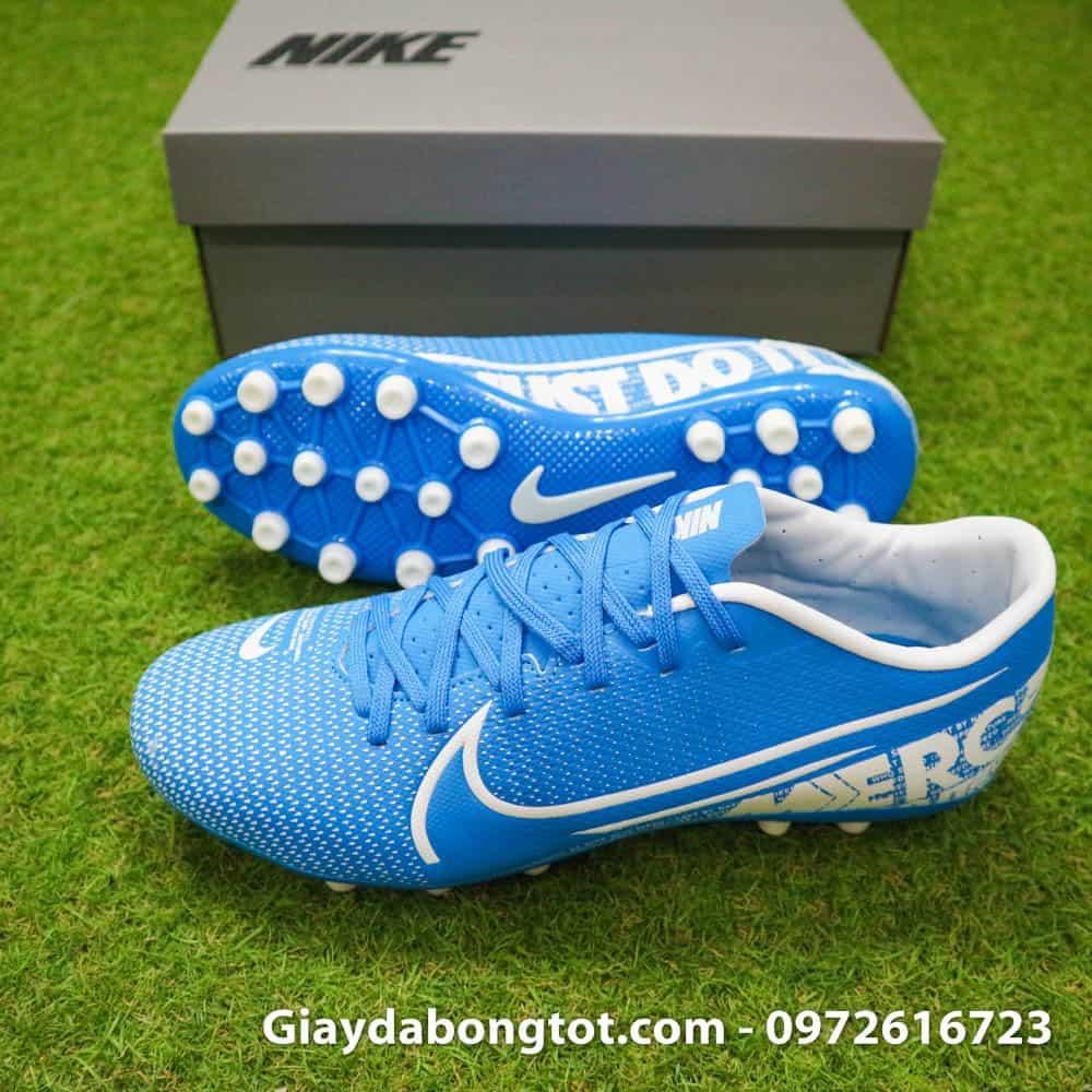 Giày bóng đá Nike Mercurial Vapor 13 AG xanh dương có da êm mềm bền chắc
