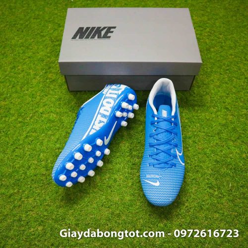 Giay bong da Nike Mercurial Vapor 13 AG xanh duong vach trang 2019 (5)
