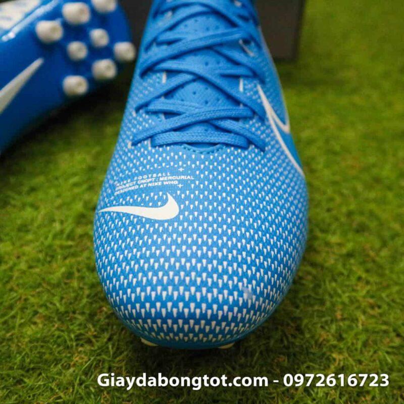 Giay bong da Nike Mercurial Vapor 13 AG xanh duong vach trang 2019 (7)