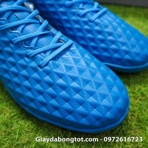 Giay bong da da mem Nike Tiempo X 8 Pro TF xanh duong 2019 (12)