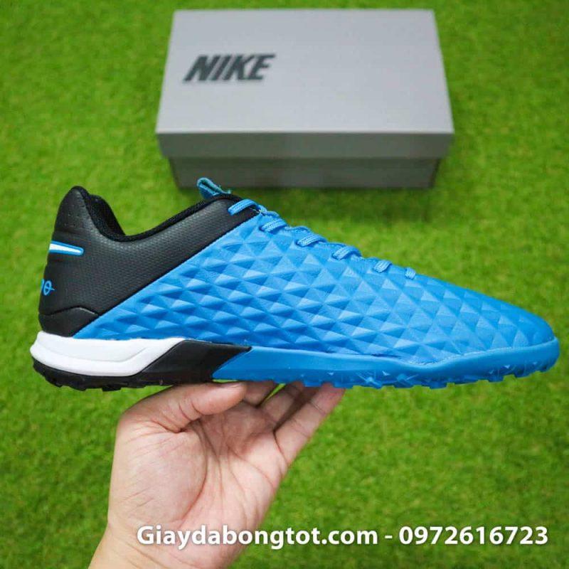 Giay bong da da mem Nike Tiempo X 8 Pro TF xanh duong 2019 (15)
