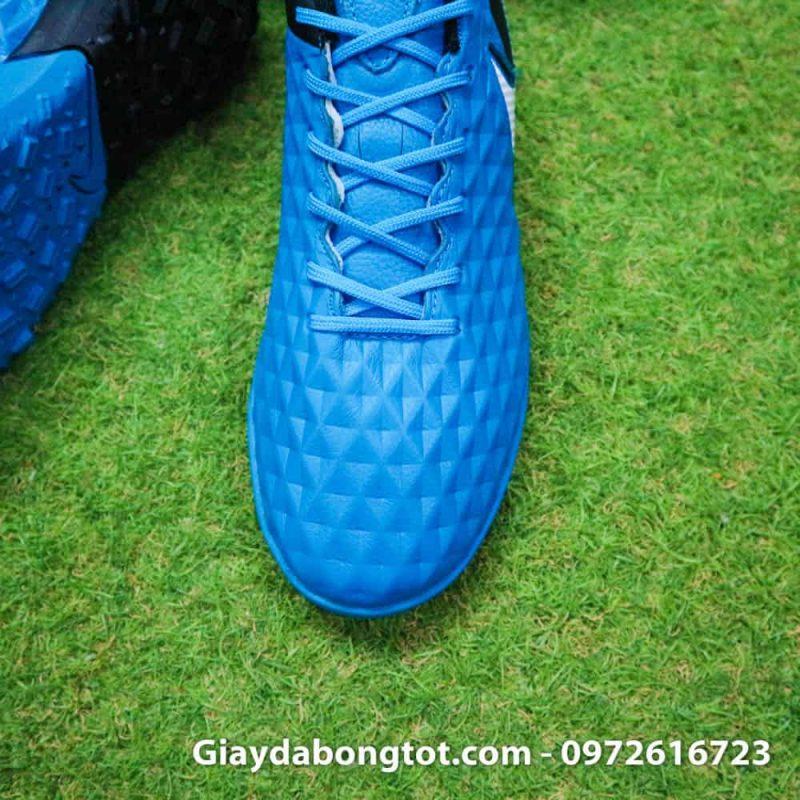Giay bong da da mem Nike Tiempo X 8 Pro TF xanh duong 2019 (7)
