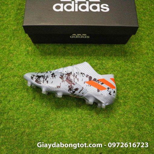 Thiết kế form giày cực kỳ đẹp mắt của giày Adidas Nemeziz 19.1 FG màu xám Camo