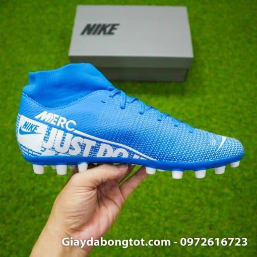 Giay da bong Nike Mercurial Superfly 7 Academy AG xanh duong 2019 (11)
