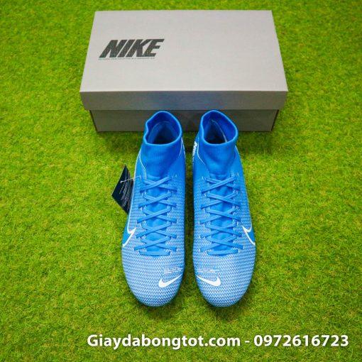 Giay da bong Nike Mercurial Superfly 7 Academy AG xanh duong 2019 (7)