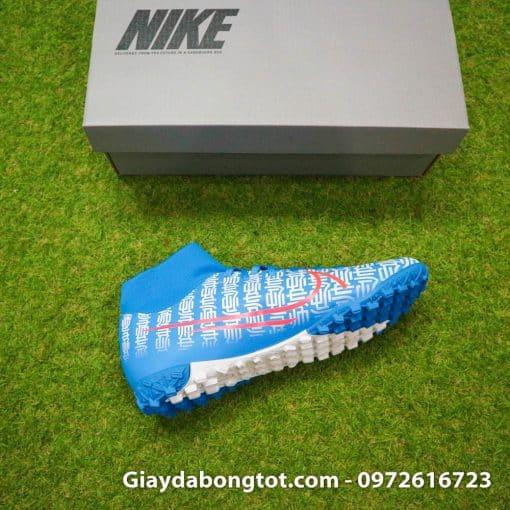 Giay da bong Nike Mercurial Superfly 7 Academy CR7 TF xanh duong Shuai (1)