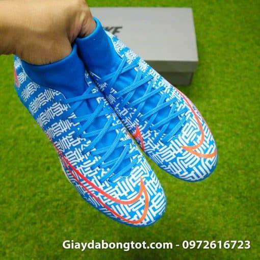Giay da bong Nike Mercurial Superfly 7 Academy CR7 TF xanh duong Shuai (10)
