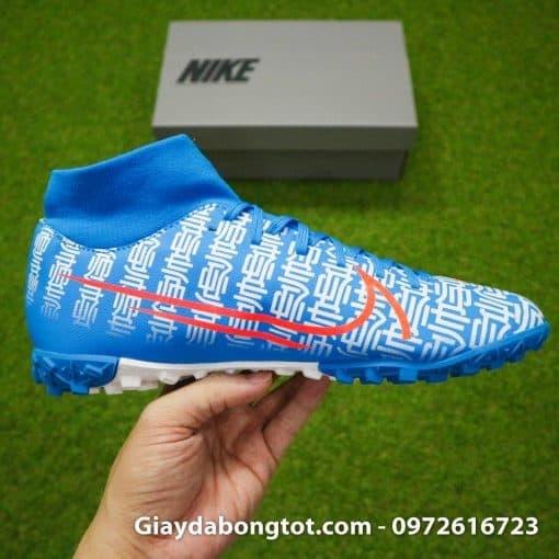 Giay da bong Nike Mercurial Superfly 7 Academy CR7 TF xanh duong Shuai (12)
