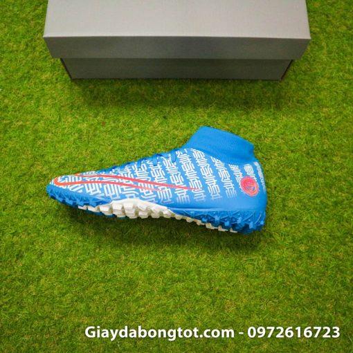 Vẻ đẹp quyến rũ của phiên bản giày đá bóng Nike CR7 cao cổ Shuai màu xanh dương