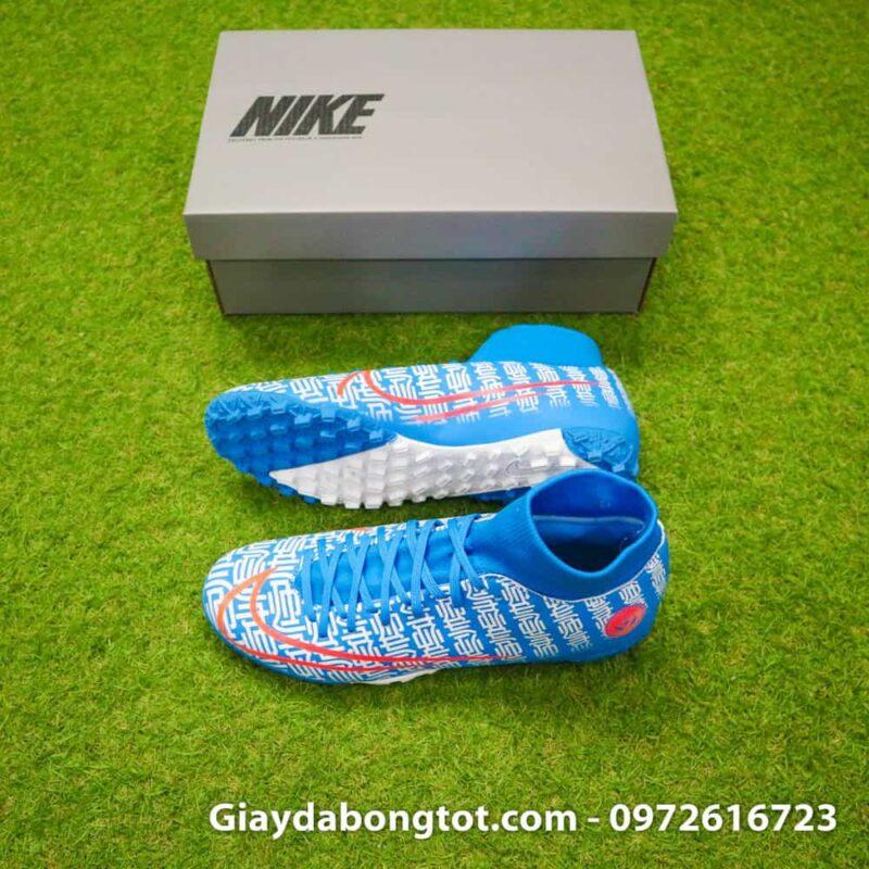 Giay da bong Nike Mercurial Superfly 7 Academy CR7 TF xanh duong Shuai (2)