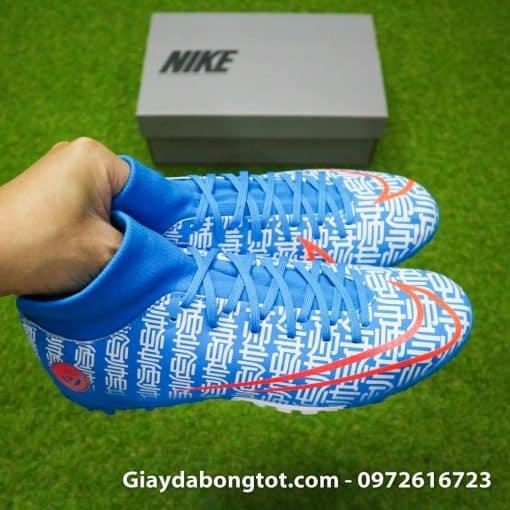 Giay da bong Nike Mercurial Superfly 7 Academy CR7 TF xanh duong Shuai (9)