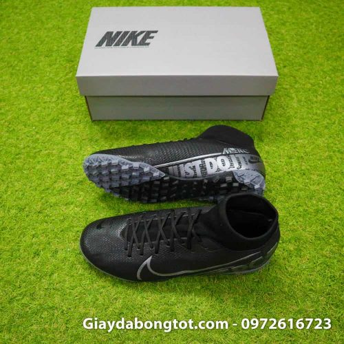 Giay da bong Nike cao co Mercurial Superfly 7 Academy TF den (2)