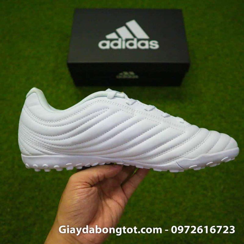 Giay da bong chan be Adidas Copa 19.4 TF trang vach vang 2019 sieu nhe (11)
