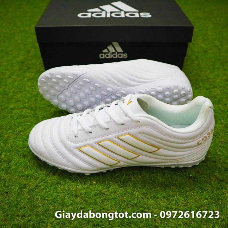 Giay da bong chan be Adidas Copa 19.4 TF trang vach vang 2019 sieu nhe (3)