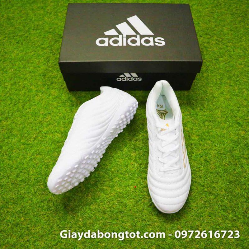 Giay da bong chan be Adidas Copa 19.4 TF trang vach vang 2019 sieu nhe (4)