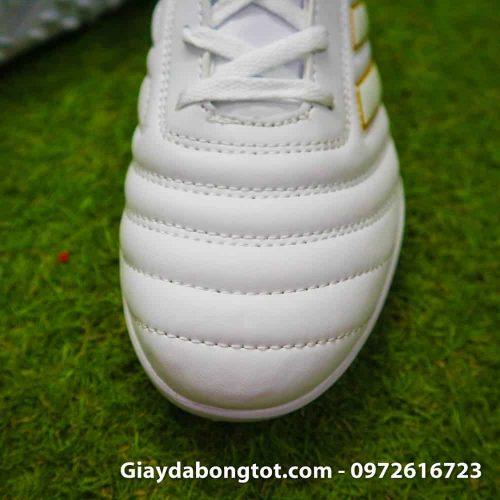 Giay da bong chan be Adidas Copa 19.4 TF trang vach vang 2019 sieu nhe (5)