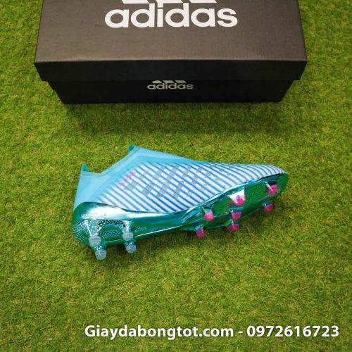 Giay da bong khong day Adidas X19+ FG mau xanh duong nhat Van Hau (1)