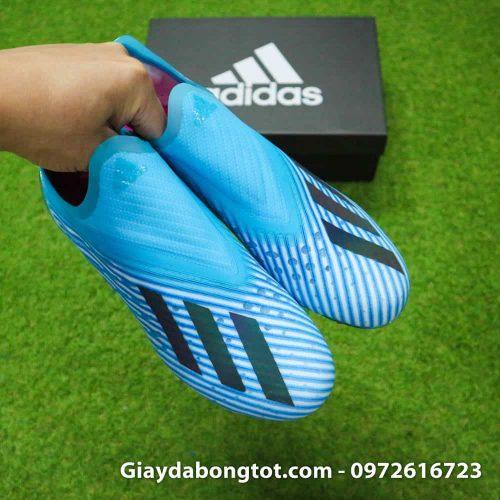Giay da bong khong day Adidas X19+ FG mau xanh duong nhat Van Hau (11)