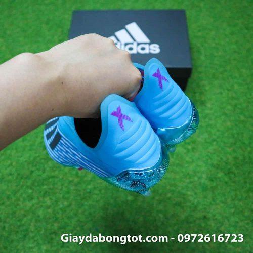 Giay da bong khong day Adidas X19+ FG mau xanh duong nhat Van Hau (12)