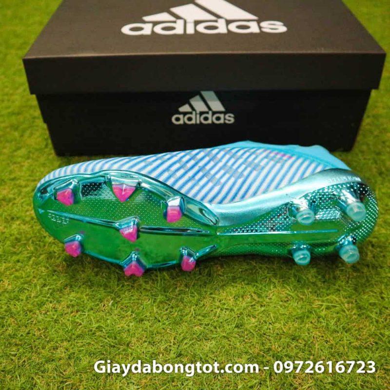 Giay da bong khong day Adidas X19+ FG mau xanh duong nhat Van Hau (4)