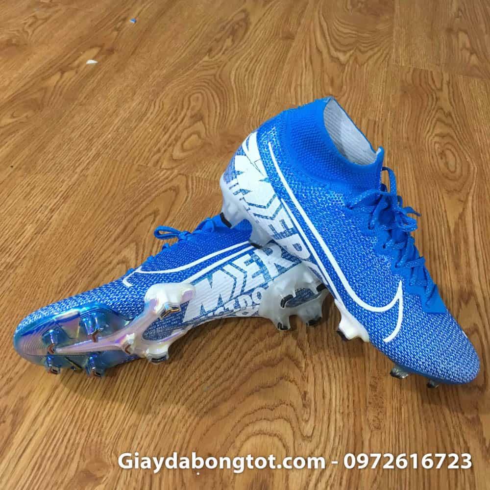 Ảnh thật chụp tại shop mẫu giày đá bóng Nike cao cổ Superfly 360 FG xanh dương