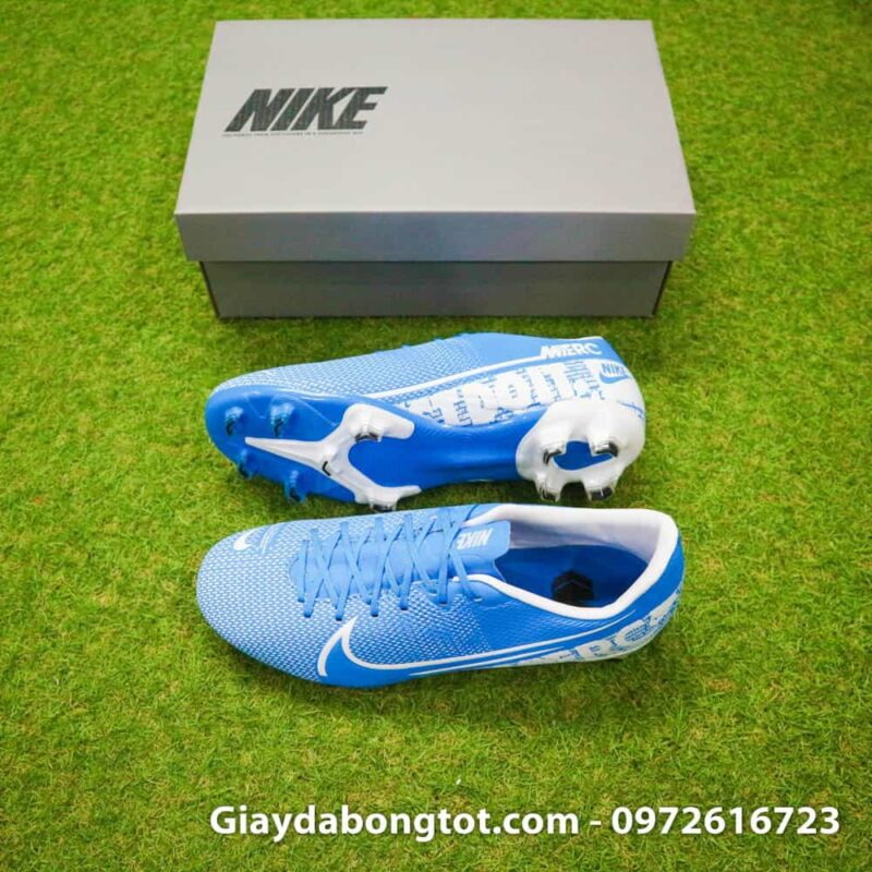 Giay da banh Nike Mercurial chan be Vapor 13 FG xanh duong (1)