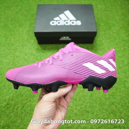 Giày bóng đá Nemeziz 19.3 FG hồng có form giày thon gọn đẹp mắt hỗ trợ sút bóng tốt