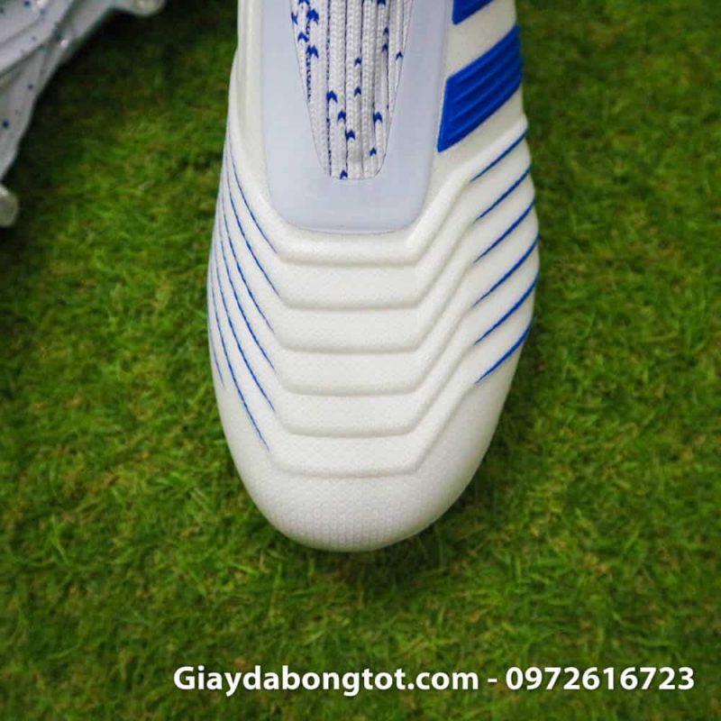 Giay da banh tre em Adidas Predator 19+ FG trang soc xanh 2019 khong day (6)