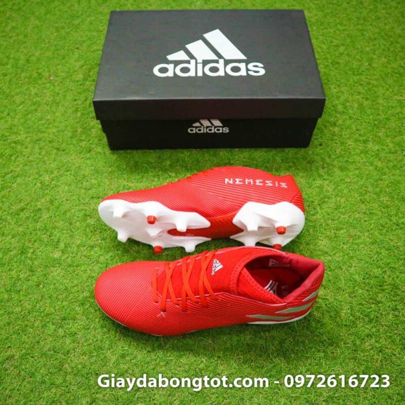Giày bóng đá Adidas Nemeziz 19.3 FG màu đỏ chân bè năm 2019