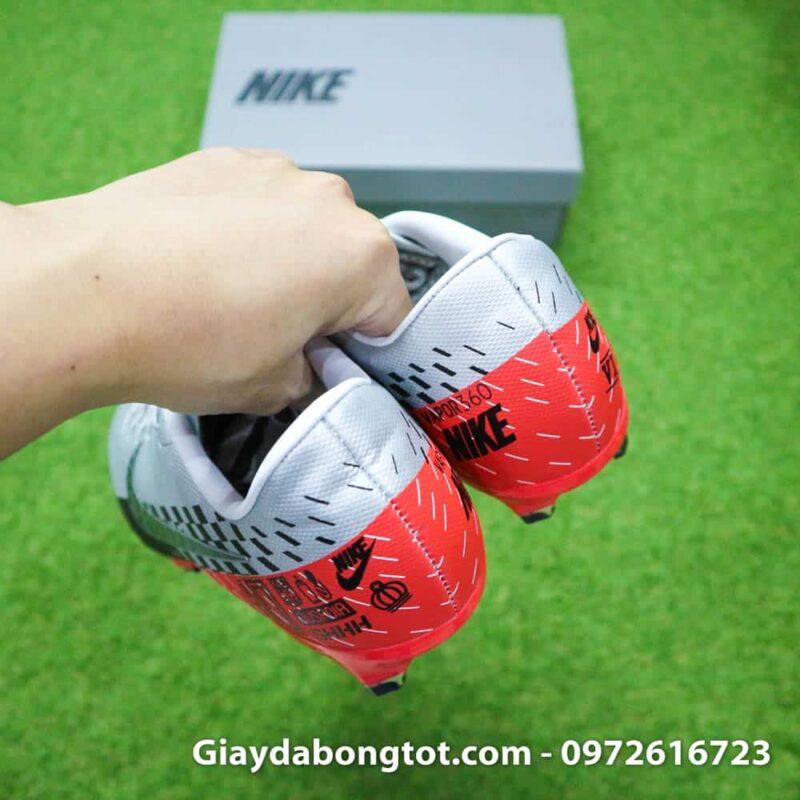 Giay da bong Neymar chan be Nike Mercurial Vapor 13 FG xam do (12)