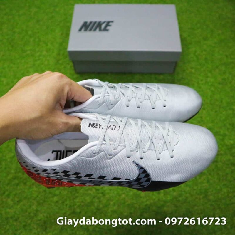Giay da bong Neymar chan be Nike Mercurial Vapor 13 FG xam do (8)
