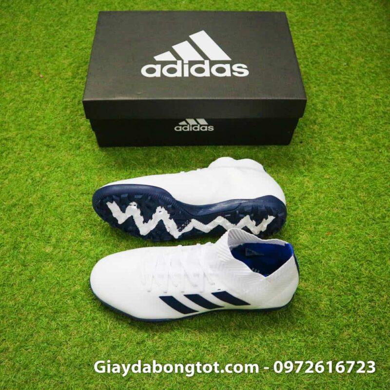 Giày đá banh ôm chân Adidas Nemeziz 18.3 TF trắng đen cổ chéo