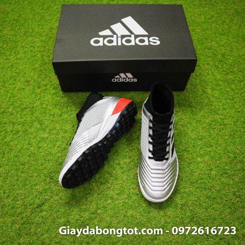Giày đá banh sân cỏ nhân tạo Adidas Predator 19.3 màu bạc có size từ 35-45