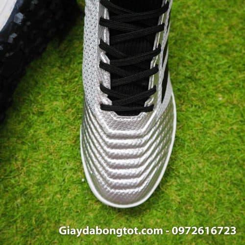 Giay bong da Adidas Predator tre em co cao mau bac vach den (6)