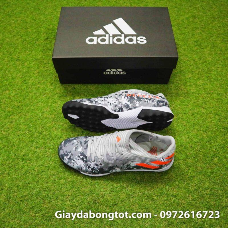 Giày đá bóng sân cỏ nhân tạo chân bè Adidas Nemeziz 19.3 TF xám camo