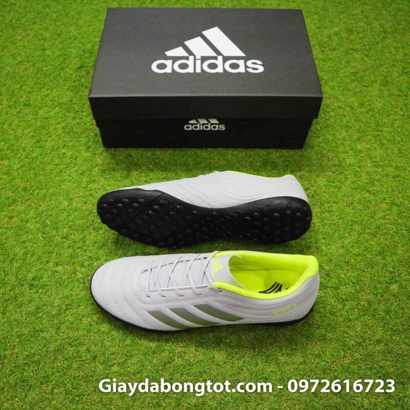 Giày đá banh sân cỏ nhân tạo Adidas Copa 19.4 TF xám vạch đen