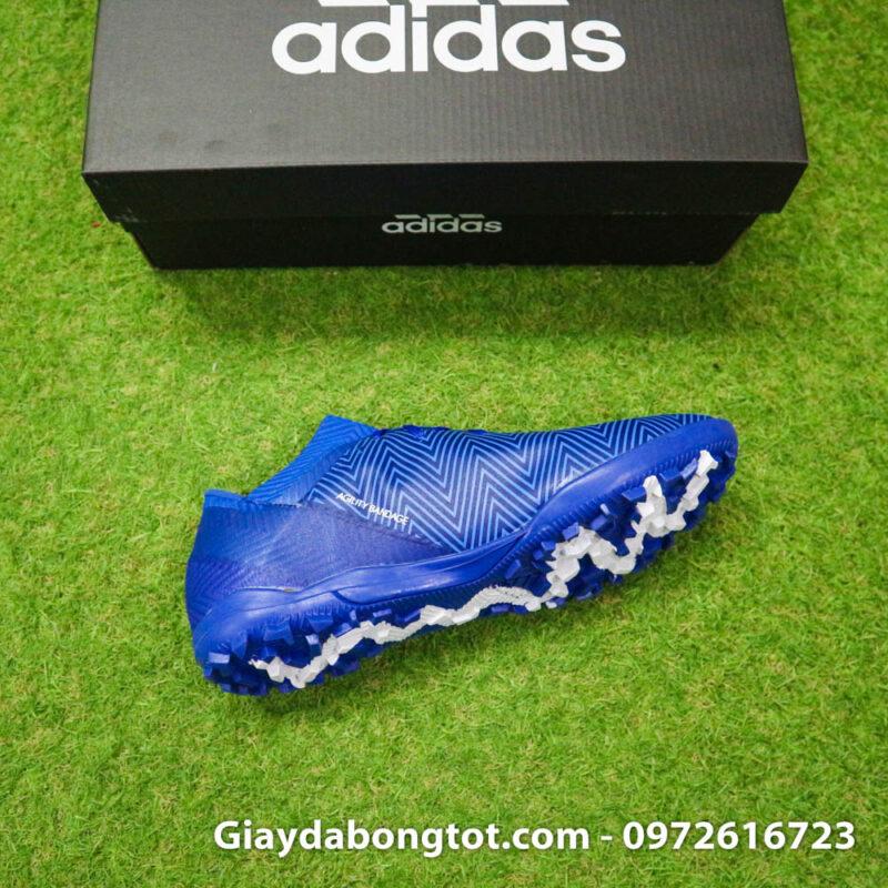 Giay da banh Adidas Nemeziz 18.3 TF xanh duong om chan (1)