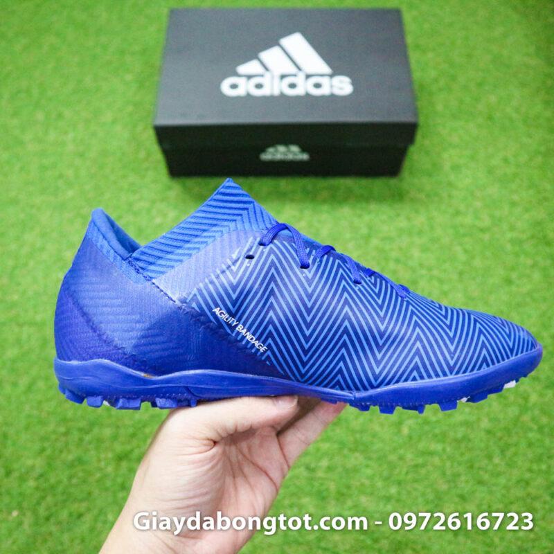 Giay da banh Adidas Nemeziz 18.3 TF xanh duong om chan (10)