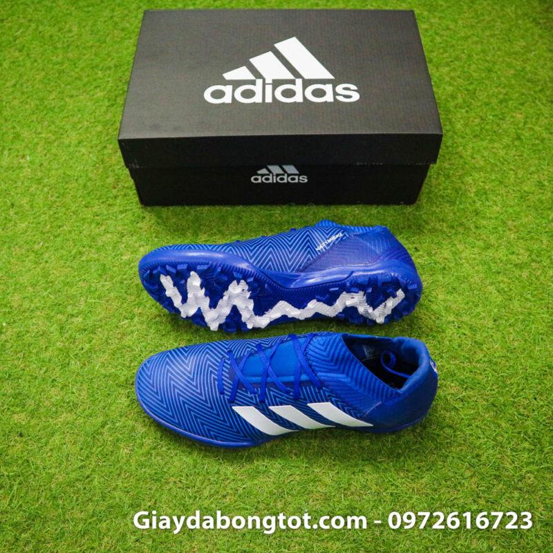 Giay da banh Adidas Nemeziz 18.3 TF xanh duong om chan (2)