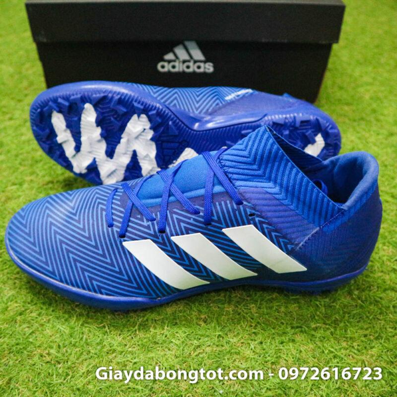 Giay da banh Adidas Nemeziz 18.3 TF xanh duong om chan (3)