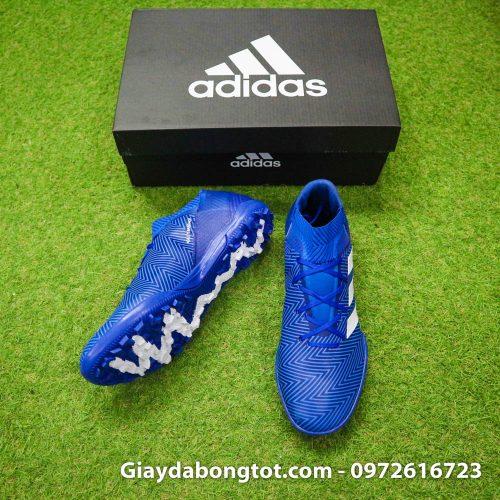 Giay da banh Adidas Nemeziz 18.3 TF xanh duong om chan (5)