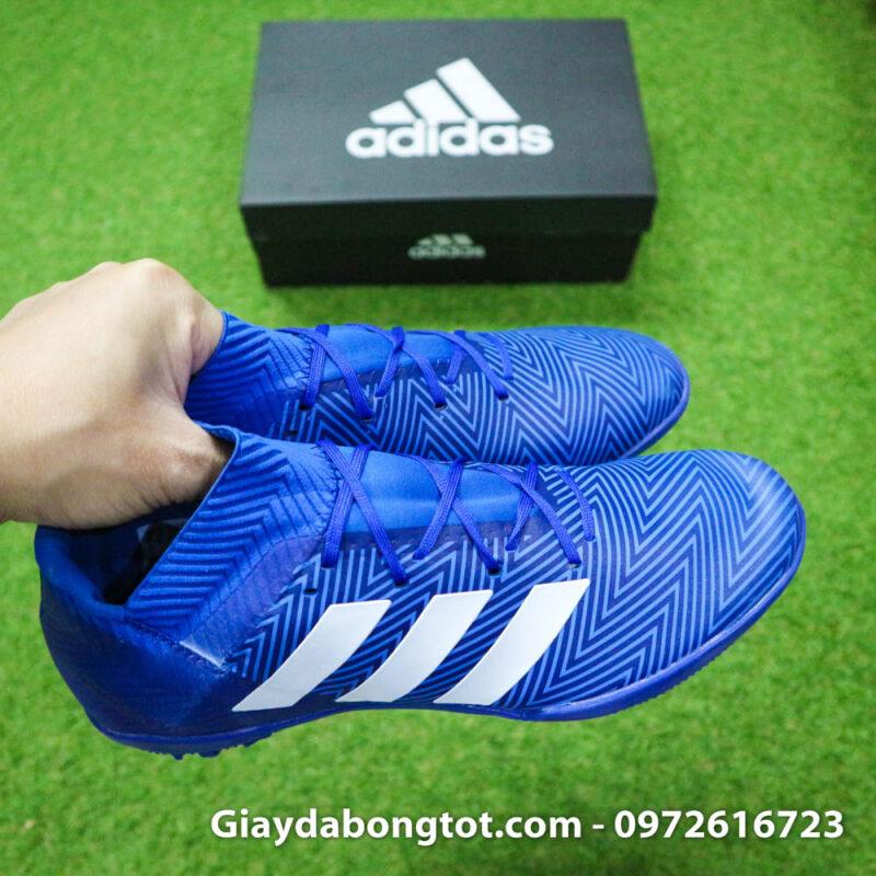 Giay da banh Adidas Nemeziz 18.3 TF xanh duong om chan (8)